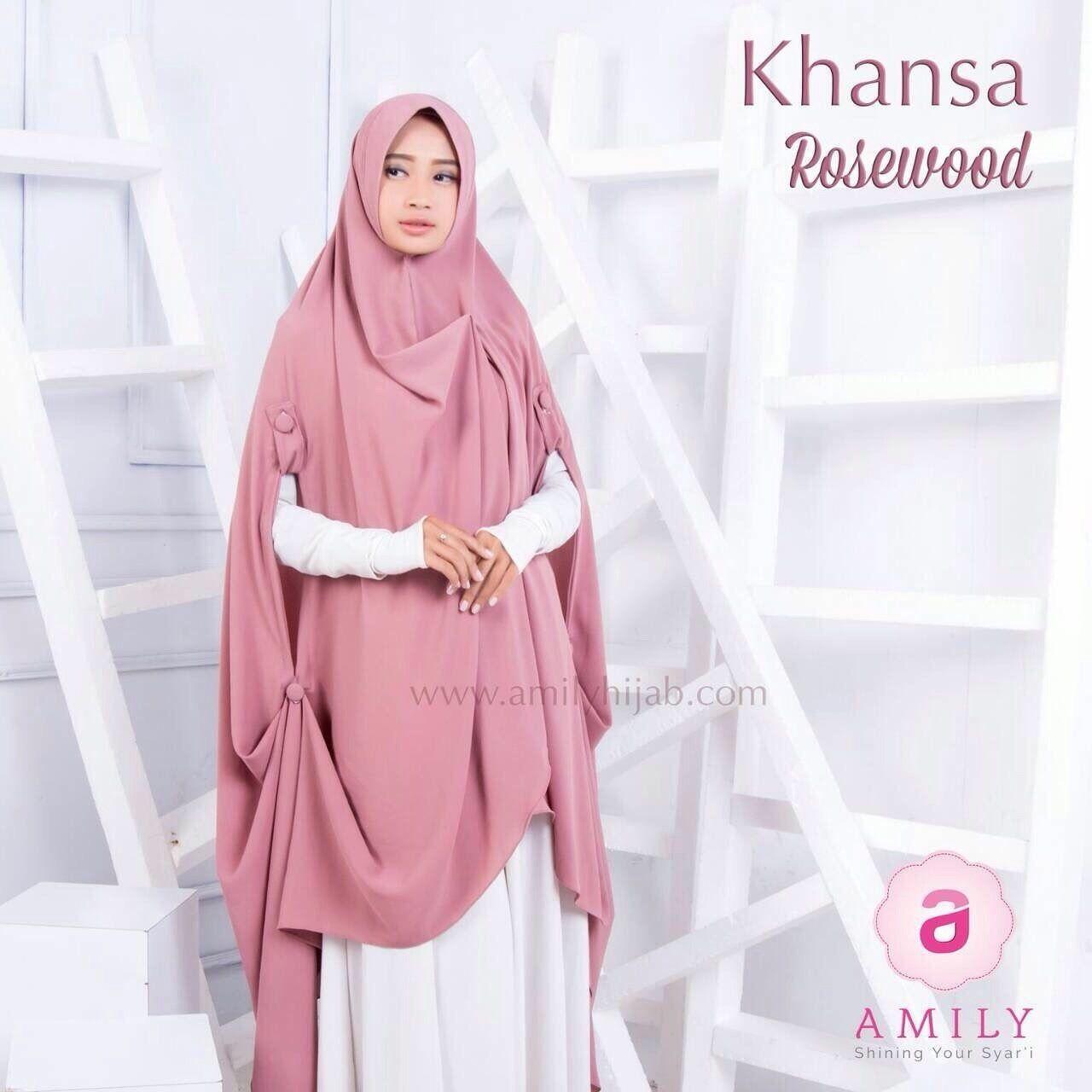 Amily Khansa Khimar Rosewood - hijab kerudung khimar jilbab syari
