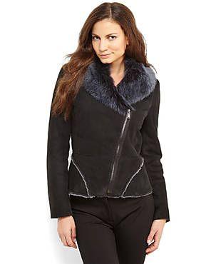 *****ELIE TAHARI Real Fur Audrina Jacket
