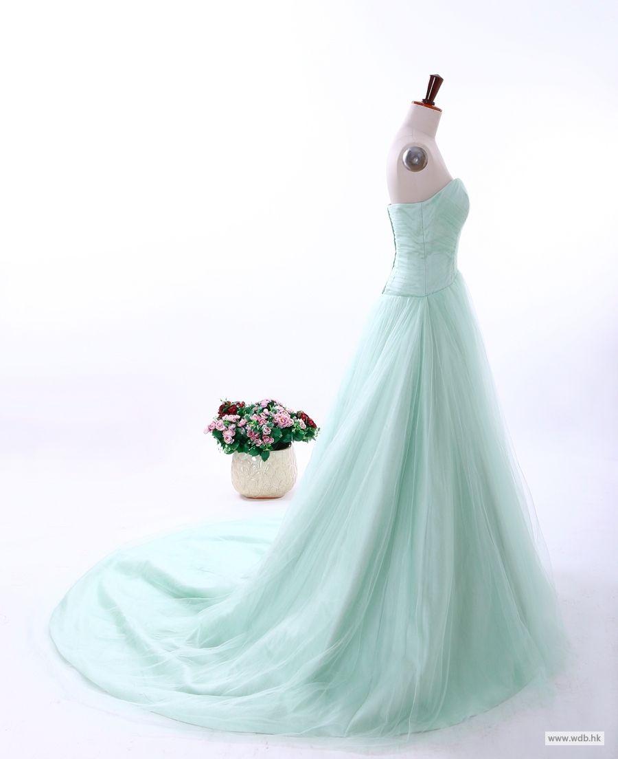 beach wedding Princess ball gown with sweetheart neckline wedding ...
