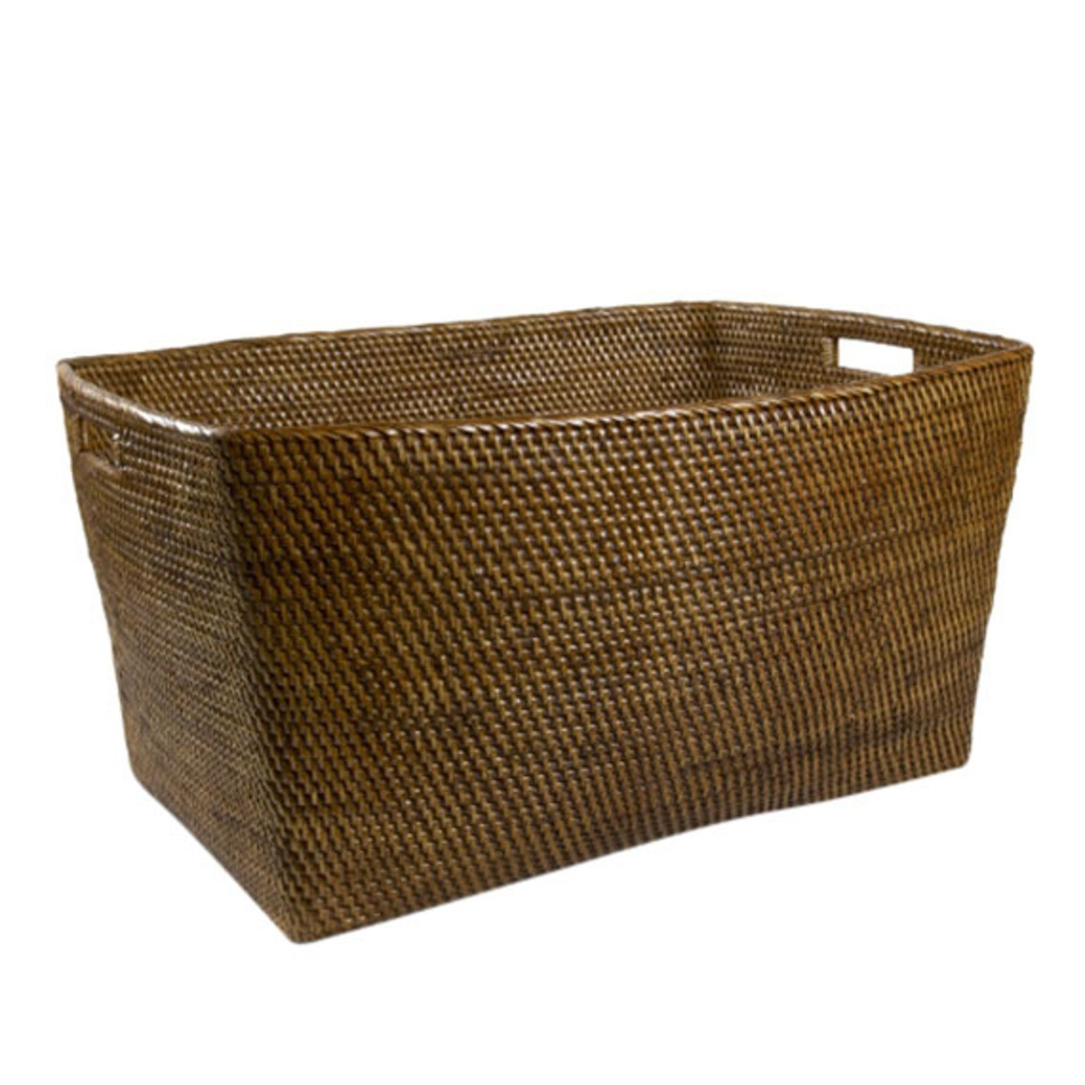 Exceptionnel Rattan Extra Large Rectangular Basket Transitional, Natural Material, Basket  By Waterworks