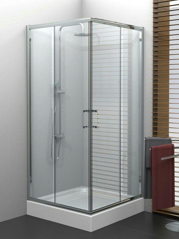 Guest shower room, Kabina prysznicowa kwadratowa New