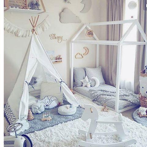 We Are Loving This Bedroom Teepee Bed Pinterest Caterinasboutique Tee Pee Love Bedroom Goals Beautifu Toddler Rooms Toddler Floor Bed Toddler Bedrooms
