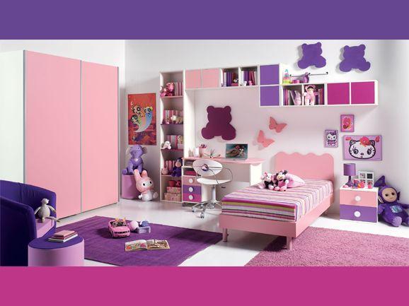 Cuartos de ni a en rosa y lila dormitorios con estilo for Alcobas para ninas