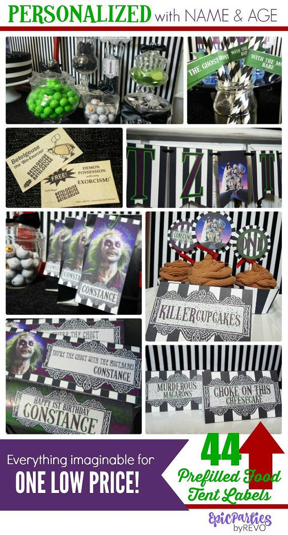 Beetlejuice Party Printable Beetlejuice Decorations Etsy