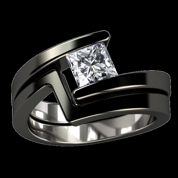 Etoile Companion Titanium Ring Black rings, Titanium