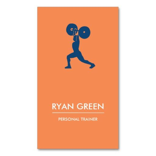 Modern Business Card No Personal Trainer Business Card - Personal trainer business card template
