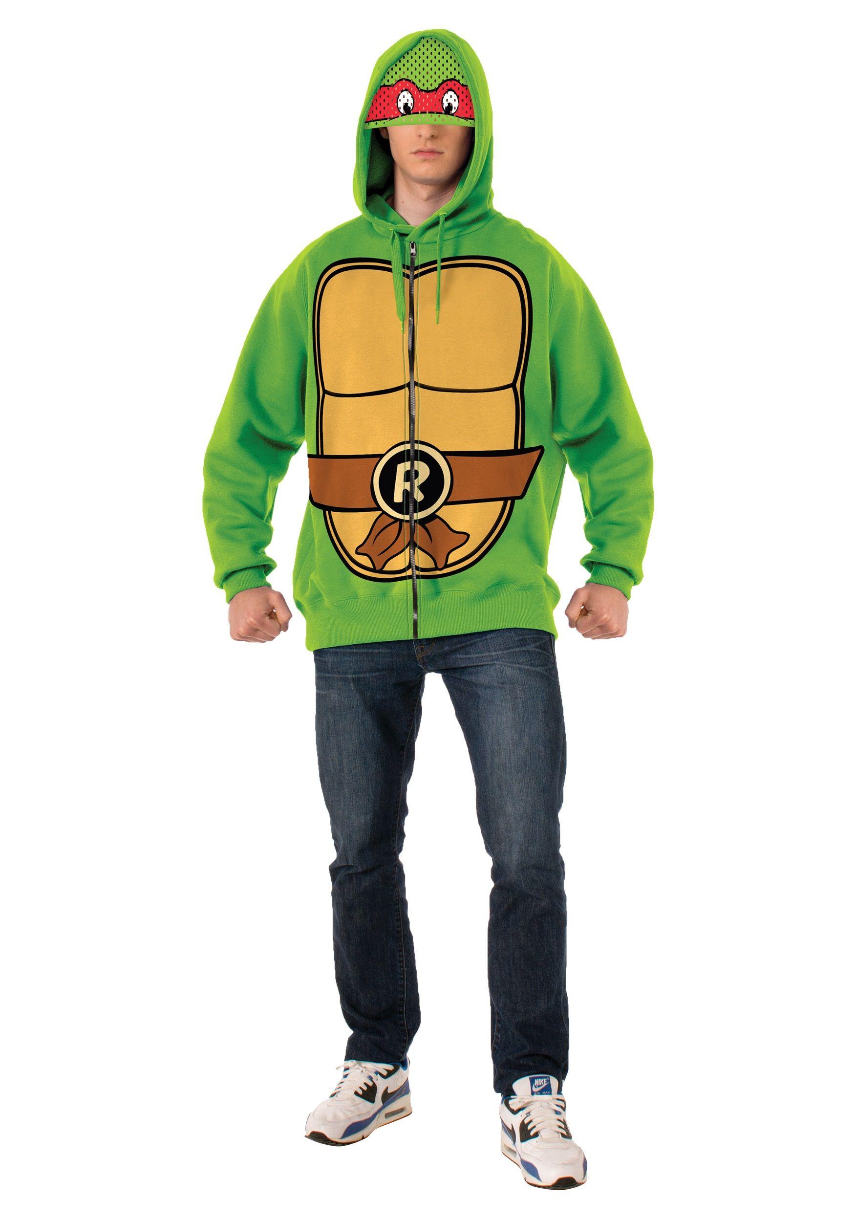 Adult Teenage Mutant Ninja Turtles Raphael Costume Adult Hooded Sweatshirt