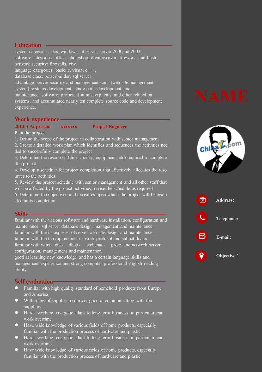 Professional Resume Template Free Download Resume