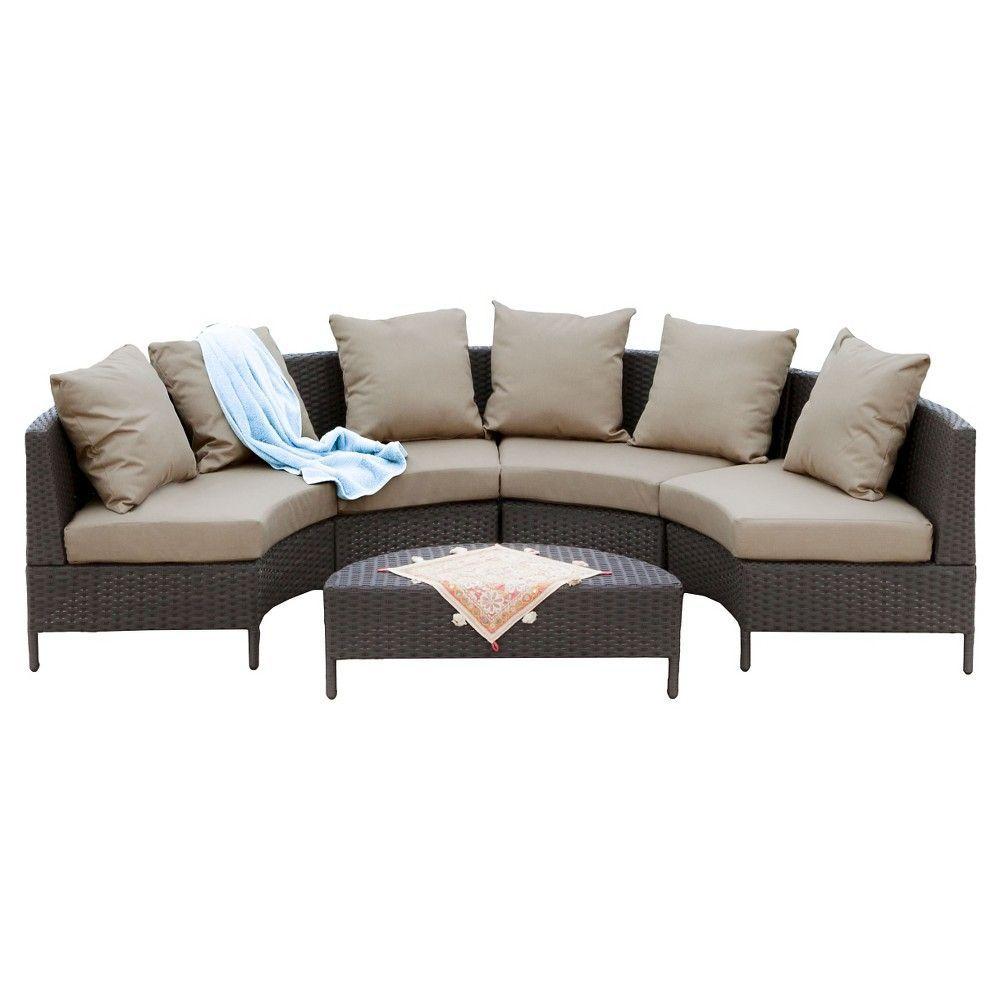 Christopher Knight Home Newton 5-piece Wicker Patio Lounge Set, Dark ...