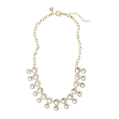 Double crystal brule necklace J Crew Also comes in navy and red