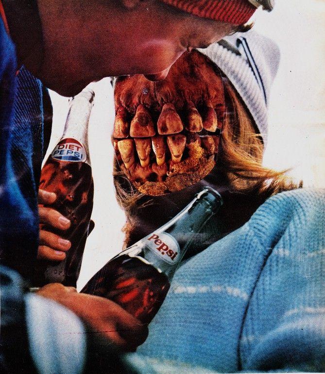 """Saatchi Online Artist: Erin Case; Paper, 2012, Assemblage / Collage """"Soda Sop""""  (http://www.saatchionline.com/collaged)"""