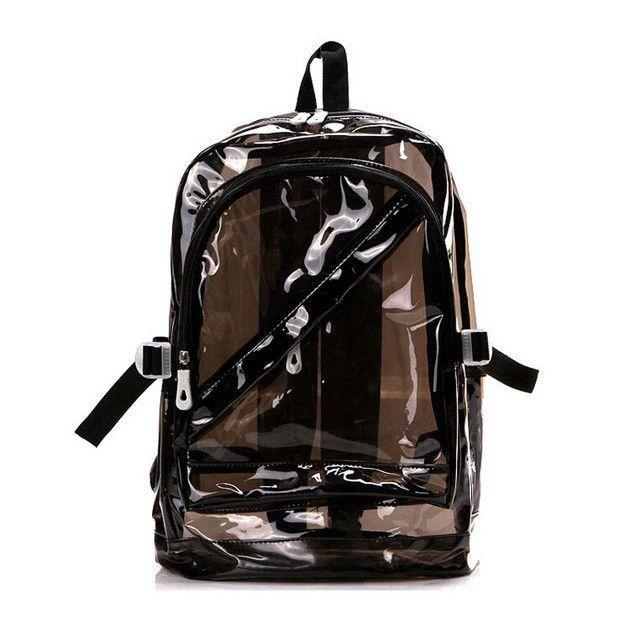 01f9b3b42e Transparent Clear Plastic Waterproof Backpack for Teenage Girls PVC School  Bags Shoulders Bag