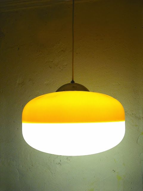 1Unik in Action: Vintage Yellow and White Pendant Lamp