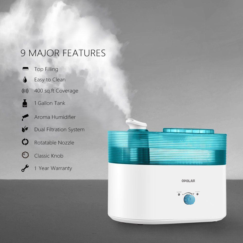 Amazon.com: OPOLAR Top Fill Humidifier, 1 Gallon Large Capacity ...