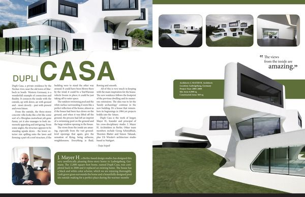 Design layouts  Dupli Casa, Architecture Magazine ...