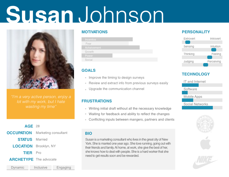 UX Persona #UX #Persona #template | UX | Pinterest ...