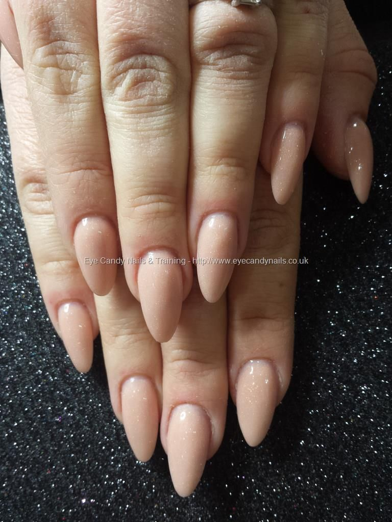 Secrets Nude Acrylic Almond Nails NailArt Taken At24 02 2015 122131 Uploaded At25 142500 TechnicianElaine Moore