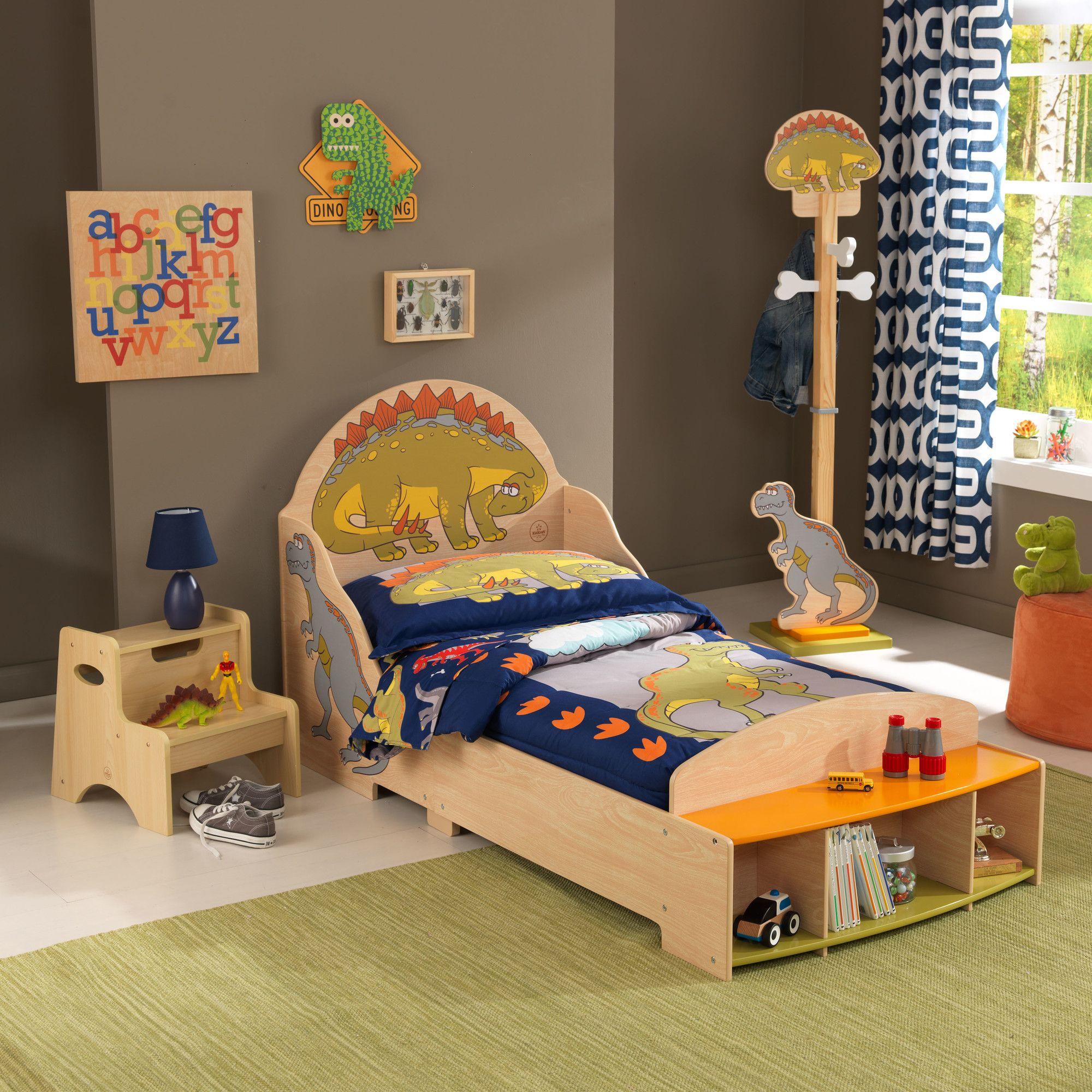 Dinosaur Twin Storage Sleigh Bed Dinosaur Toddler Bedding Kid