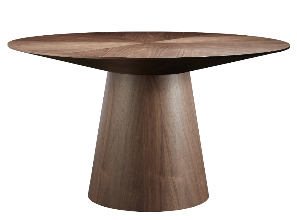 Terry Round Dining Table Walnut Round Dining Table Round Dining Table Modern Dining Table