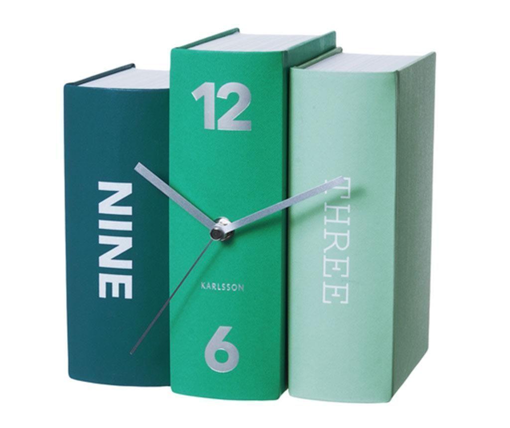 Настолен часовник Book Emerald - Vivre
