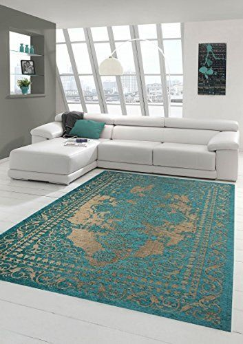 Charmant Moderner Teppich Designer Teppich Orientteppich Wohnzimmer Teppich Mit  Bordüre In Türkis Beige Größe 160x230 Cm