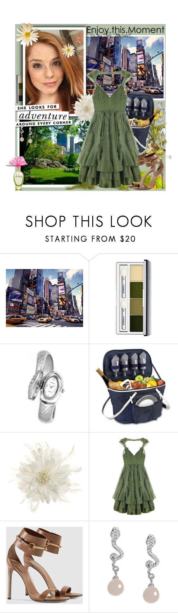 """Enjoy this moment"" by sasane ❤ liked on Polyvore featuring Clinique, Thos. Baker, Tasha, Zac Posen, Gucci, Kate Spade and Talullah Tu"