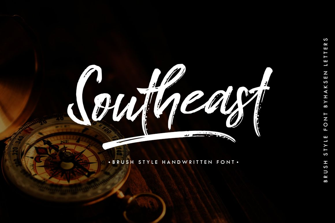 Southeast Brush Font Brush Font Photoshop Fonts