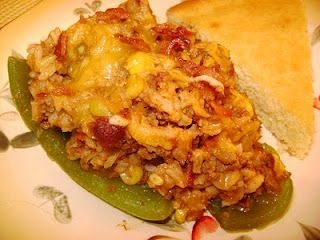 CREOLE stuffed bell peppers!   This is a great cajun food blog!  Make without bacon or add turkey sausage for low fat, plus add brown rice. #cajunfood