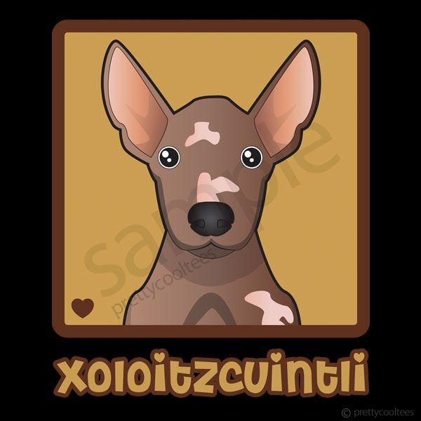 Xoloitzcuintli Cartoon Heart T Shirt Xolos Perro