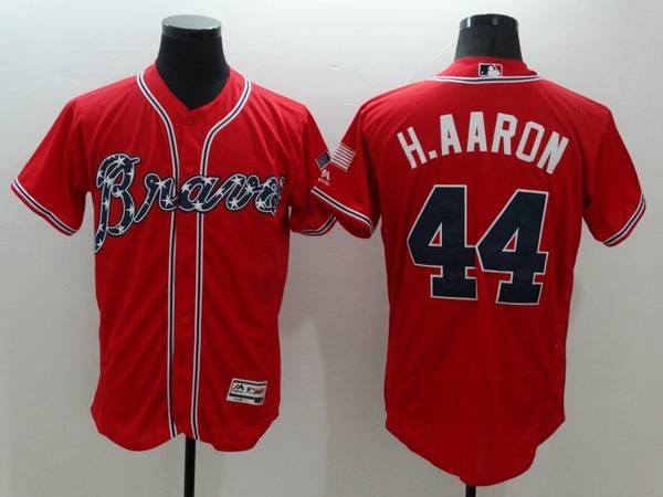 2016 MLB FLEXBASE Atlanta Braves 44 HAaron Red Jersey