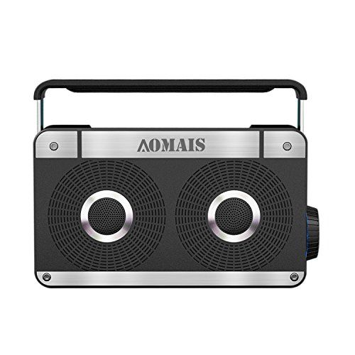 AOMAIS CLASSIC Bluetooth Speakers, Retro Wireless Portabl...