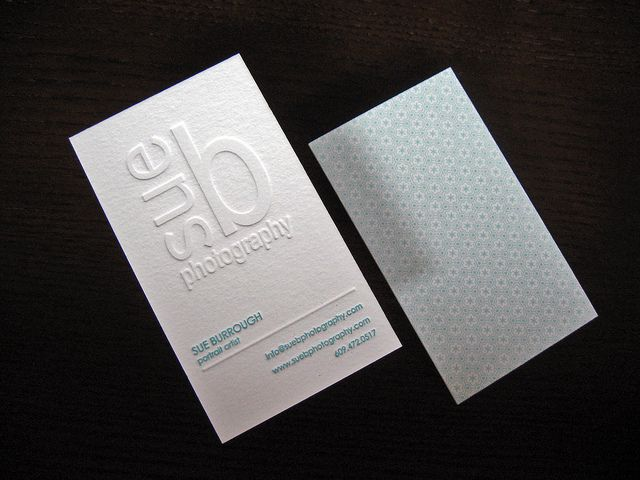Sue b photography letterpress cards letterpresses logos and logo printed as blind impression contact info ink letterpress matches color of french graphic paper used to back the card colourmoves