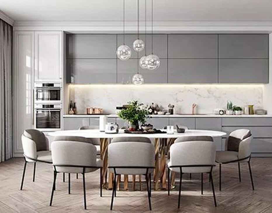50 Affordable Kitchen Dining Room Design Ideas For Eating With Family Decorracks Kitchen Room Design Dining Room Design Modern Kitchen Design