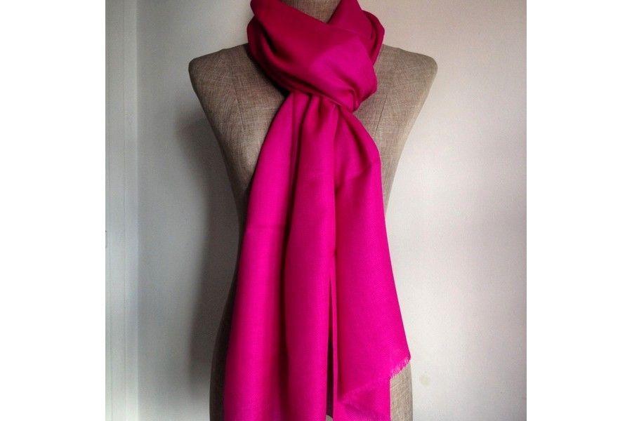 4f6007bb7615 Écharpe en cachemire femme rose Couleur Rose Pale, Rose Fuchsia, Coton,  Gentleness,
