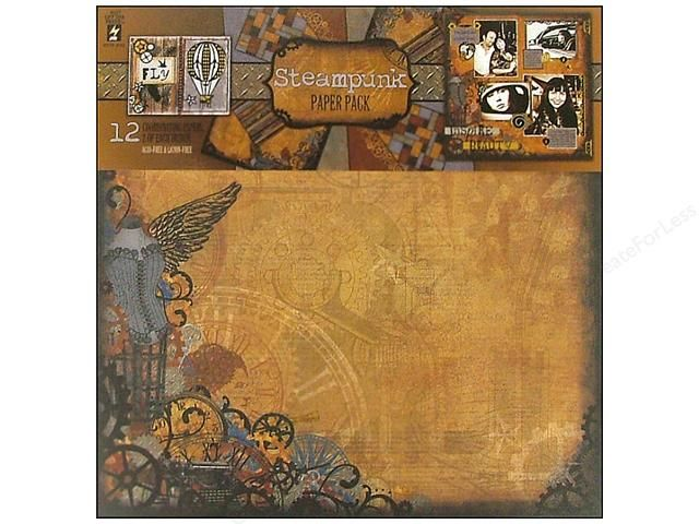 "Craftie-Charlie: Hot Off The Press 12""x12"" Paper Pack - Steampunk"