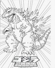 Printable Godzilla Coloring Pages For Kids Great Coloring