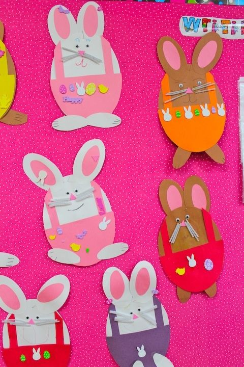 Easter Bunny Craft Teaching Arts And Crafts For Kids Pinterest