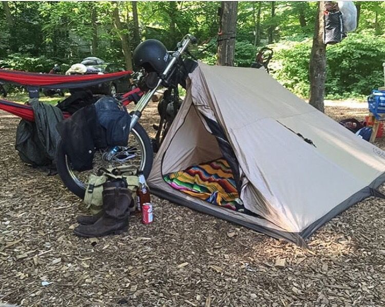 Abel Brown Domad Tent 2 - Motorcycle C& : tent for motorcycle - memphite.com