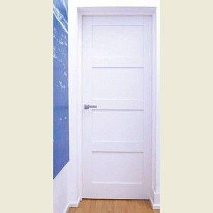 Captivating Four Panel Shaker Primed Doors