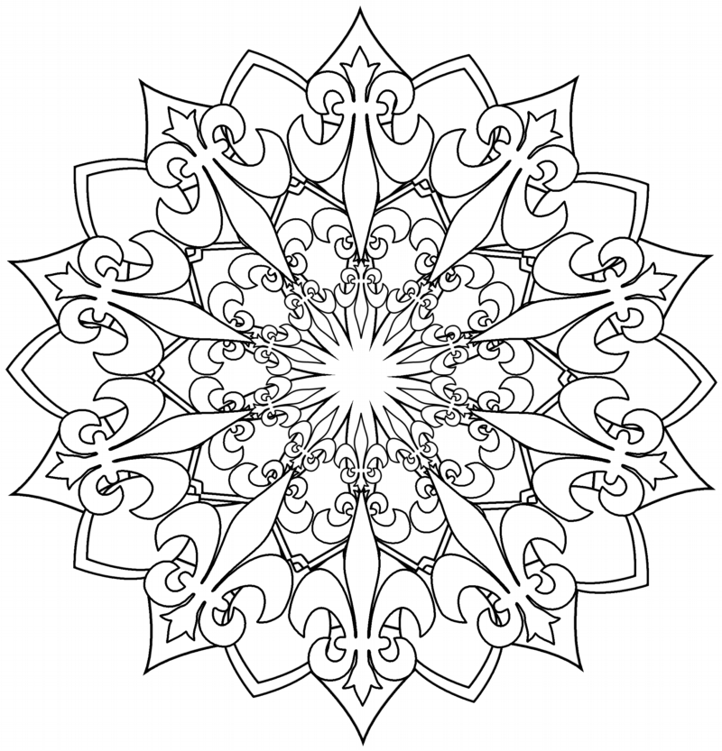 mandala image:fleur de lis_2_outlined Kevin L Brooks ...