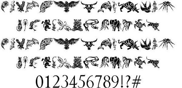 Simple Tribal Animal Designs