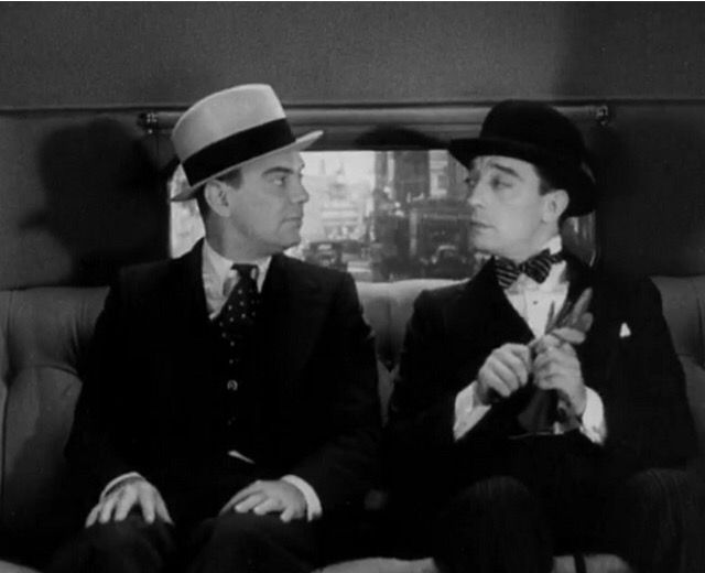 Cliff Edwards and Buster Keaton