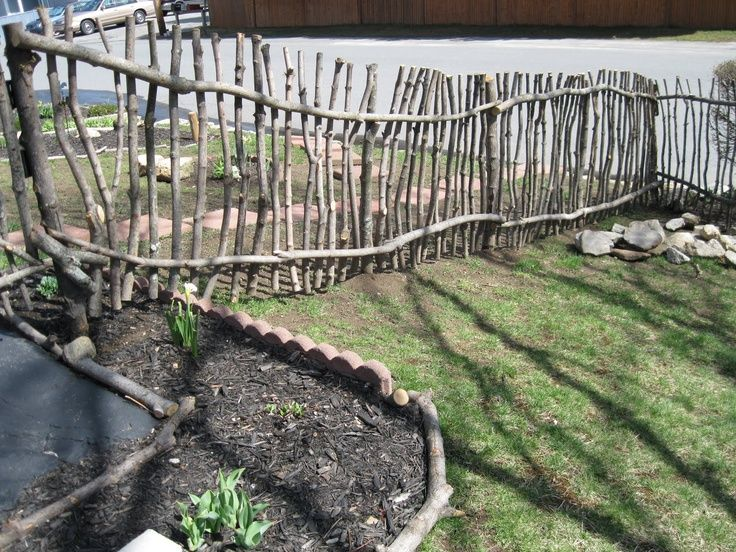 Tree Stick Rustic Garden Fence | Rustic Stick Co.: Rustic Fence #1