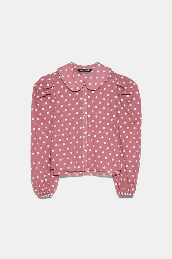 Embroidered Polka Dot Blouse Polka Dot Blouse Polka Dot Print Blouse Fashion Valentines