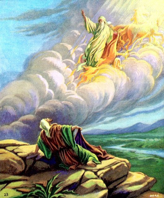 """2Kings2:10-11 Elijah Taken to Heaven... He said, """"You have asked a hard thing…"""