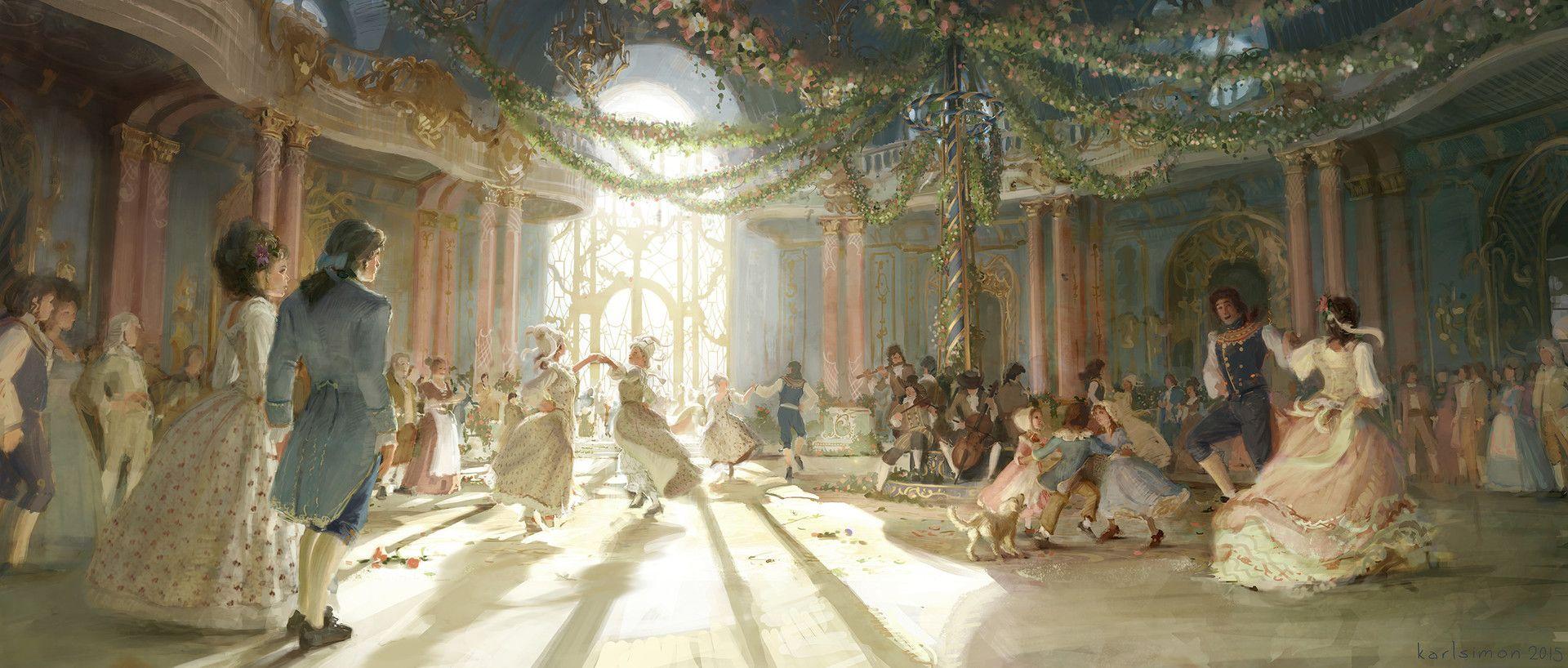 Summer Ballroom By Karlsimon Concept Art And Illustration Https