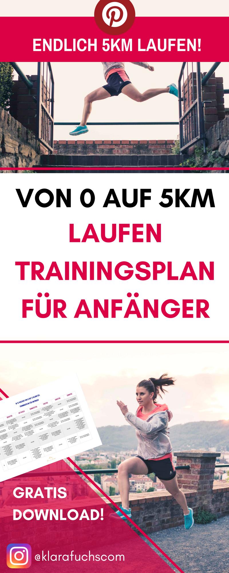 Von 0 auf 5 km. Trainingsplan für Laufanfänger #weighttraining