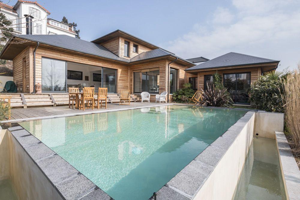 Vaucresson  Maison à ossature bois avec piscine - Agence EA Paris