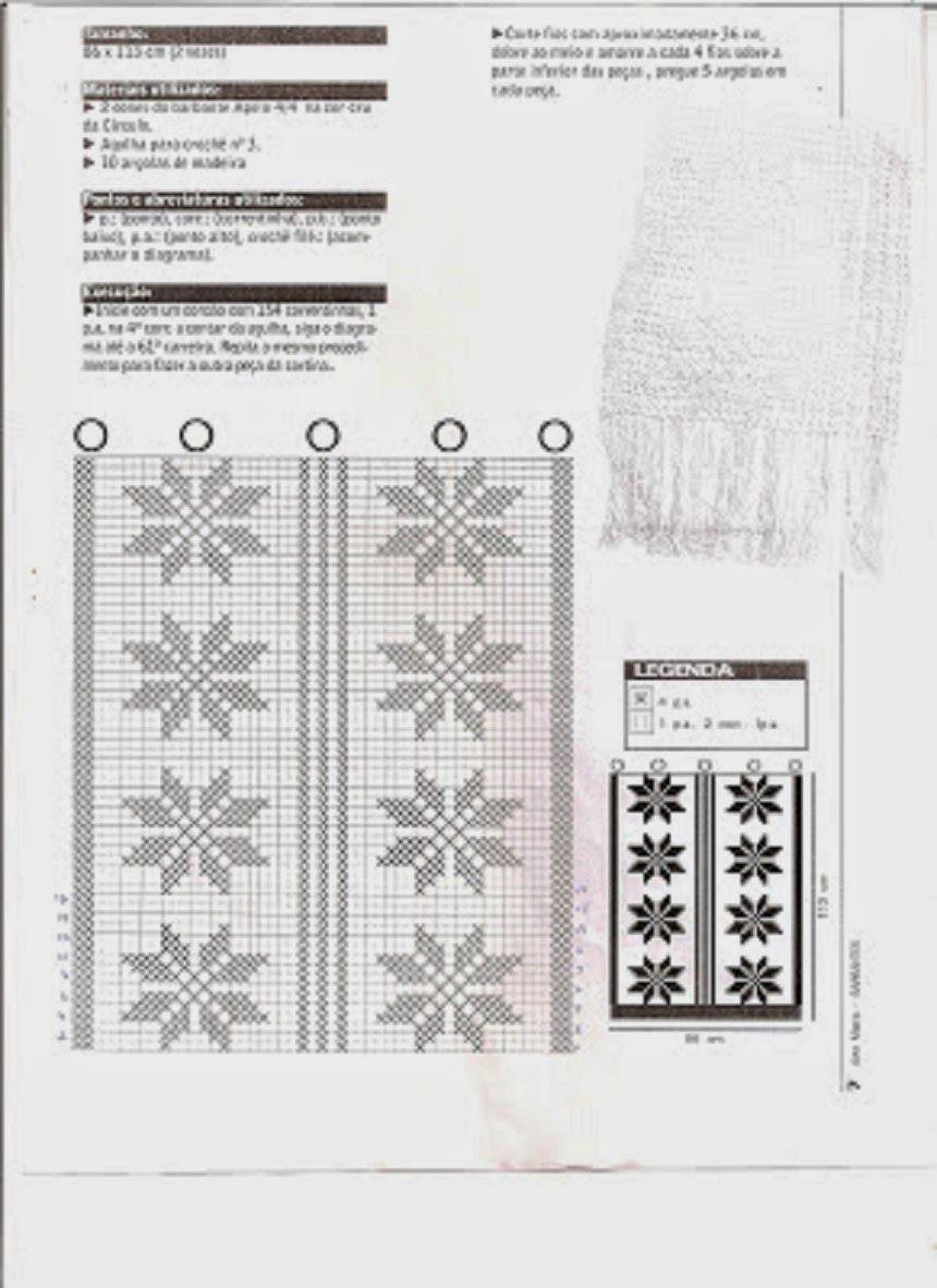 Artesanatos Em Croch S Vanda Cortinas Para Cozinha Com Gr Ficos