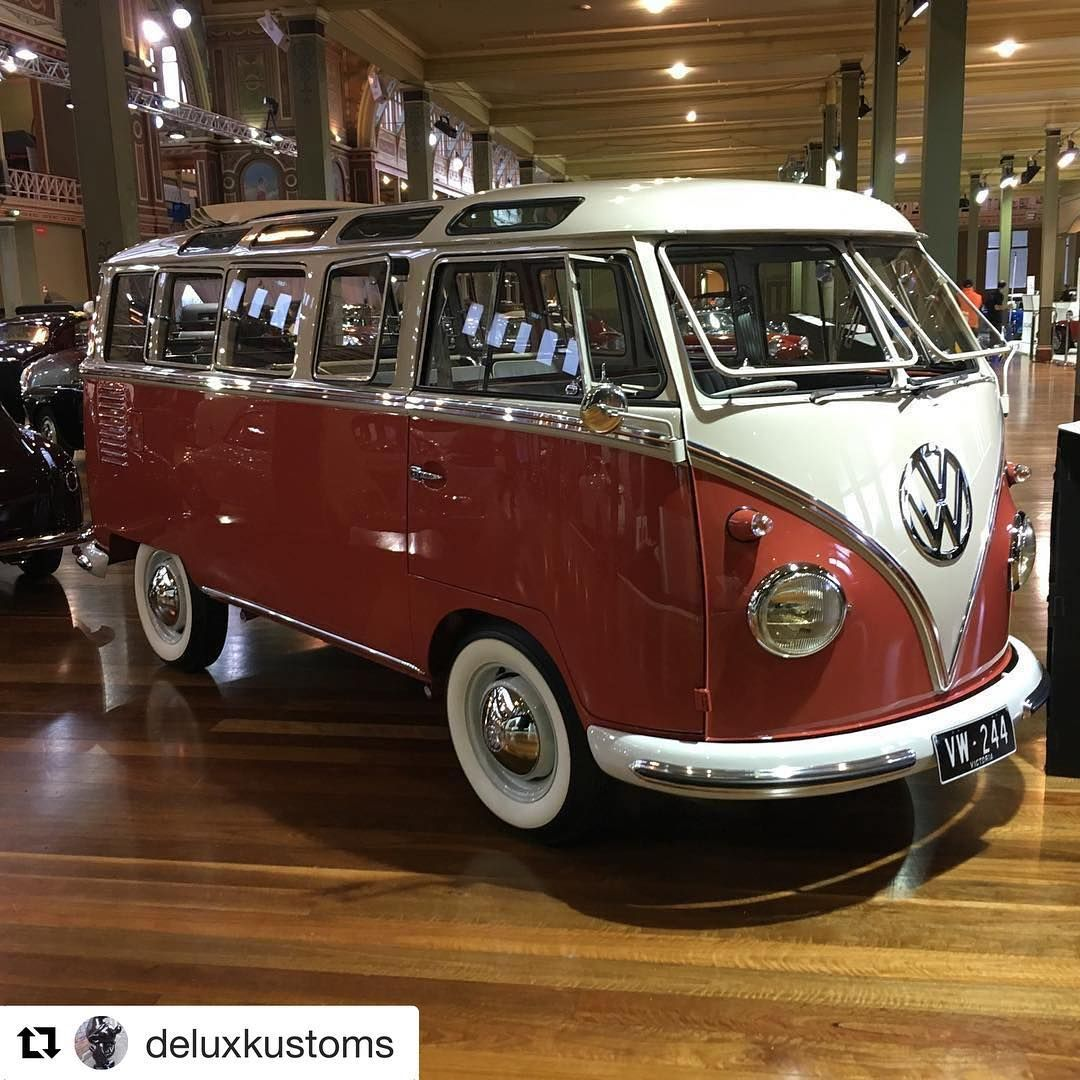 And Here She Is Repost Deluxkustoms With Repostapp Our Completely In House Built Samba At This Years Motorclassica Co Vintage Vw Instagram Journey Live